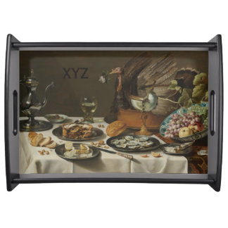 """Still Life With Turkey Pie"" custom serving trays"