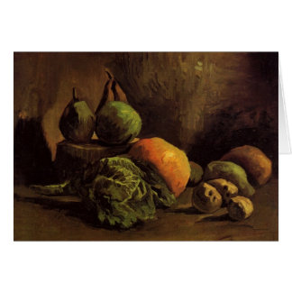 Still Life with Vegetables and Fruit by van Gogh Card