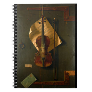 Still Life with Violin Notebooks