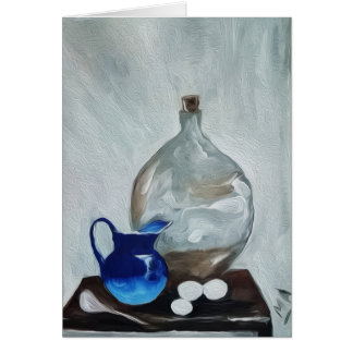 Still life with Water Jug Card
