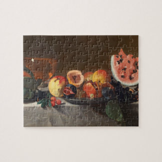Still life with watermelons and carafe puzzle