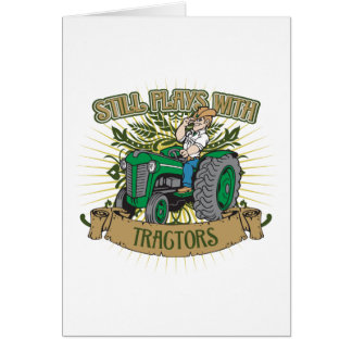 Still Plays With Green Tractors Card