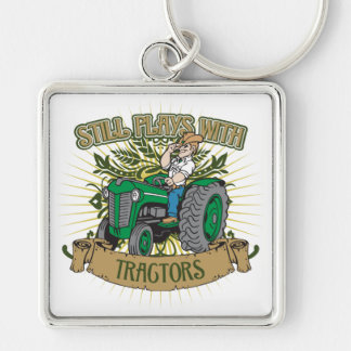 Still Plays With Green Tractors Key Ring