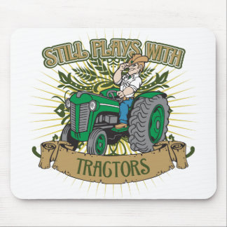 Still Plays With Green Tractors Mouse Mat