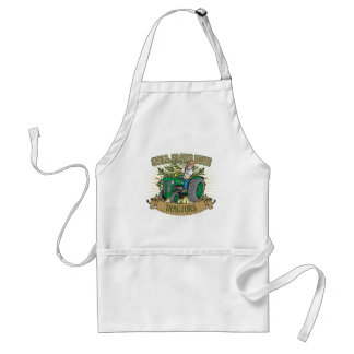 Still Plays With Green Tractors Standard Apron
