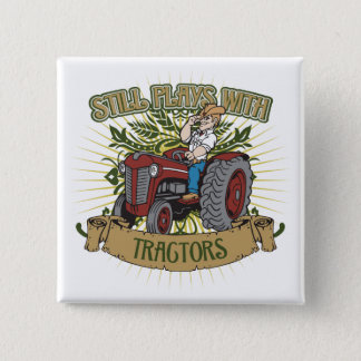 Still Plays With Red Tractors 15 Cm Square Badge