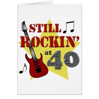Still Rockin' at 40 Greeting Card