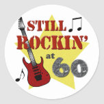 Still Rockin' At 60 Classic Round Sticker