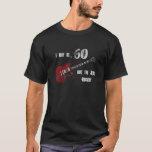 Still Rockin' at 60, red & black guitar shirt