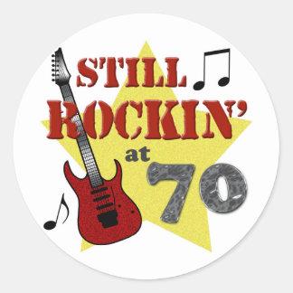 Still Rockin' At 70 Round Sticker