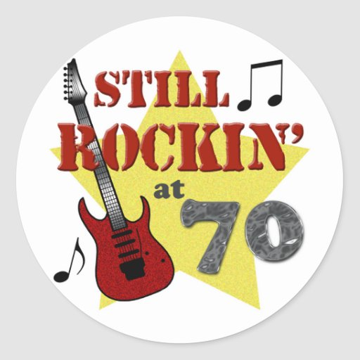 Still Rockin' At 70 Stickers