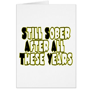 Still Sober Card