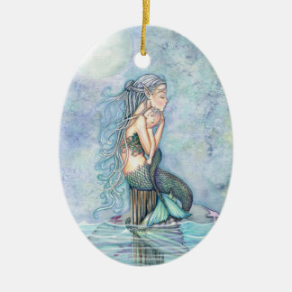 Still Waters Mermaid Mother and Infant Baby Shower Christmas Ornament