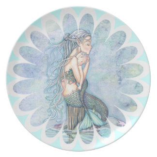 Still Waters Mother and Baby Mermaid Plate