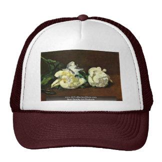 Still White Peony By Manet Edouard Trucker Hat