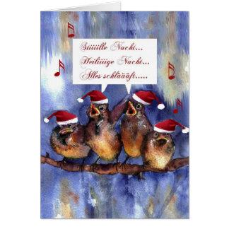 stille Nacht Weihnachten german language christmas Greeting Card
