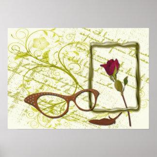 Stilleben mit Brille Posterdrucke
