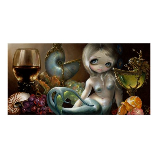 Stilleven II: Zeemeermin ART PRINT Mermaid surreal