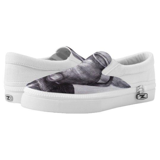 Stilllife Art Custom Zipz Slip On Shoes Printed Shoes