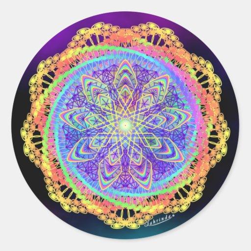 Stillness Midst Change Round Stickers