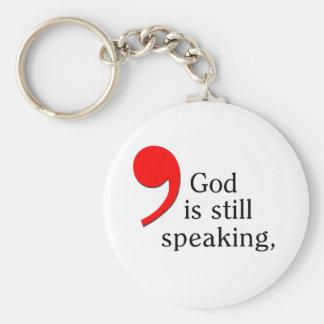 StillSpeaking Basic Round Button Key Ring