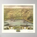 Stillwater, MN Panoramic Map - 1870 Poster