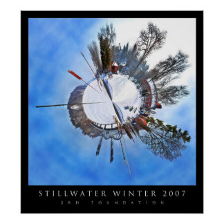 Stillwater Winter Polar Panoramic Poster