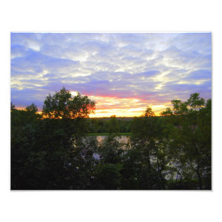 Stilwell Pond Sunset (14x11 inches) Photograph