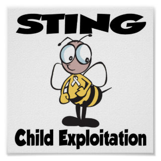 STING Child Exploitation Poster