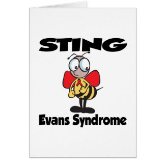 STING Evans Syndrome Greeting Card