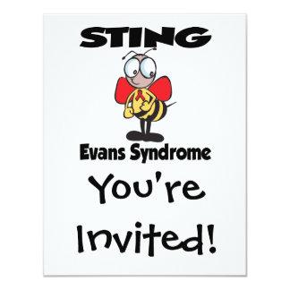 STING Evans Syndrome 11 Cm X 14 Cm Invitation Card