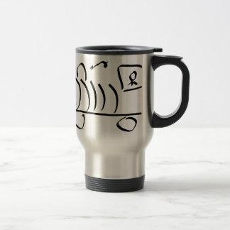 Sting man train stainless steel travel mug