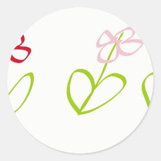Sting man's garden round sticker