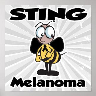 STING Melanoma (black) Poster