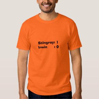 Stingray: 1Irwin      : 0 Shirt