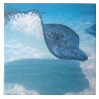 Stingray in the Caribbean Large Square Tile