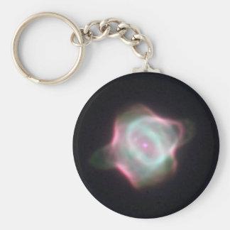 Stingray Nebula Basic Round Button Key Ring