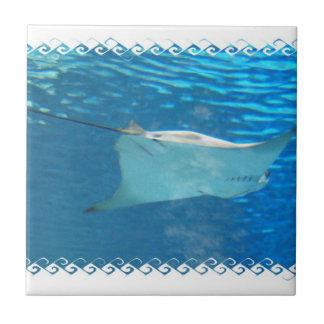 Stingray Swimming Tile