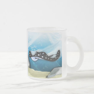 Stingray Swoop Frosted Glass Coffee Mug
