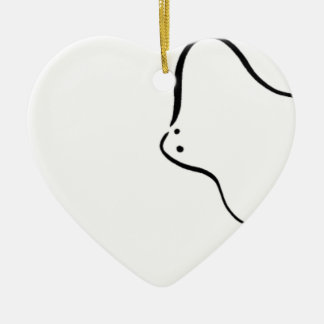 Stingrays Ceramic Heart Decoration