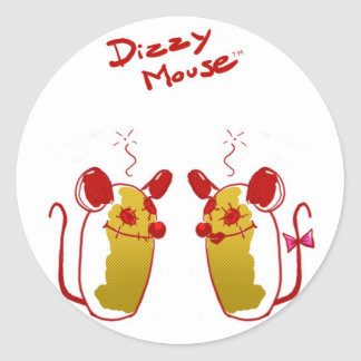 Stings Dizzy Mouse - Love Mouse Round Sticker