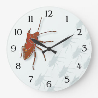Stink Bug Round Wall Clocks