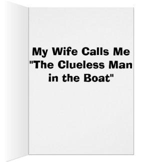 """Stinkeye cards """"clueless man"""""""