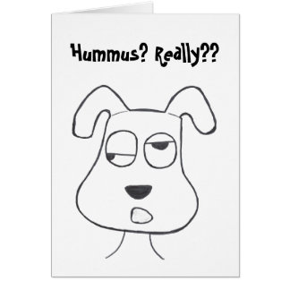 Stinkeye dog and hummus card