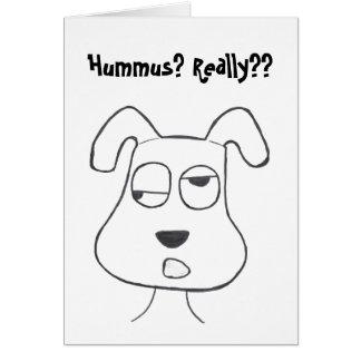 Stinkeye dog and hummus card