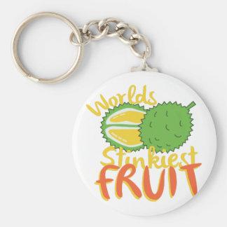 Stinkiest Fruit Basic Round Button Key Ring
