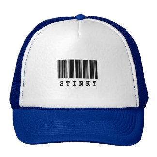 stinky barcode design hats