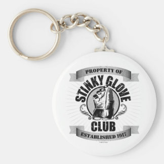 Stinky Glove Club (Hockey) Basic Round Button Key Ring