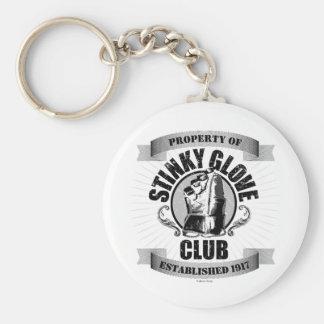 Stinky Glove Club (Hockey) Basic Round Button Key Ring