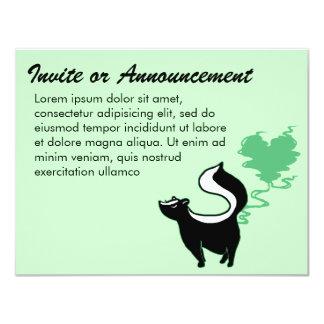 Stinky Love Skunk 11 Cm X 14 Cm Invitation Card